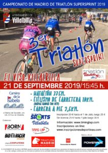 Campeonato de Madrid de Triatlón SuperSprint El Viso-Villalbilla, Madrid