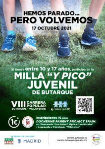 Carrera Milla y pico juvenil Butarque Villaverde, Madrid