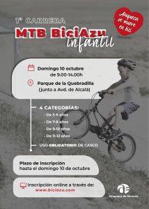 Carrera Infantil MTB BiciAzu  11-12 años   Azuqueca de Henares, Guadalajara